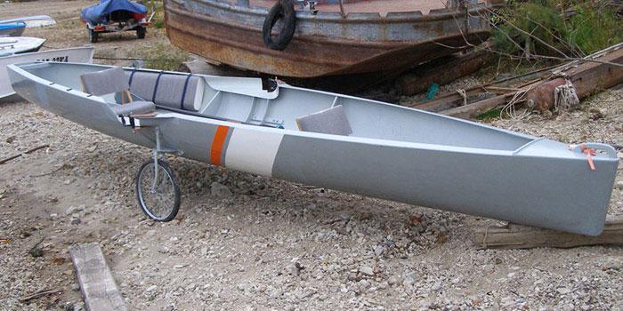 гребная лодка калан